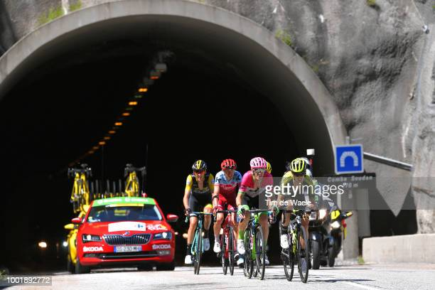 Mikel Nieve of Spain and Team Mitchelton-Scott / Pierre Rolland of France and Team EF Education First - Drapac P/B Cannondale / Ilnur Zakarin of...
