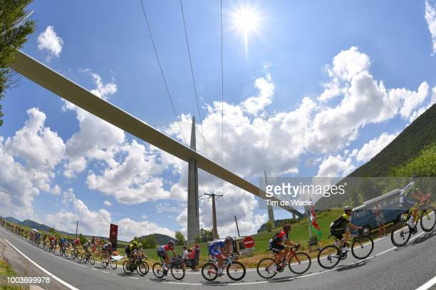 Mikel Nieve of Spain and Team Mitchelton-Scott / Simon Gerrans of Australia and BMC Racing Team / Bob Jungels of Luxembourg and Team Quick-Step...