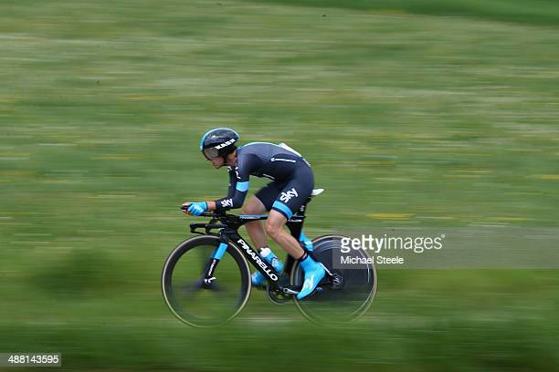 Mikel Nieve of Spain and Team Sky during stage five of the Tour de Romandie 185km individual time trial from Neuchatel to Neuchatel on May 4 2014 in...