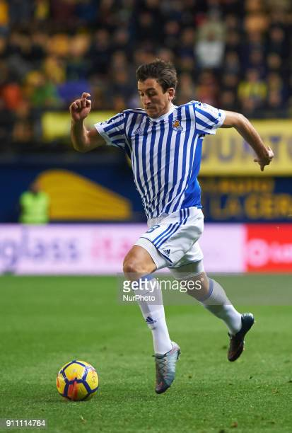 Mikel Oyarzabal of Real Sociedad during the La Liga match between Villarreal CF and Levante Union Deportiva at Estadio de la Ceramica on January 26...