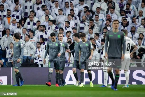 Mikel Oyarzabal of Real Sociedad Mikel Merino of Real Sociedad David Zurutuza of Real Sociedad Aritz Elustondo of Real Sociedad Januzaj of Real...