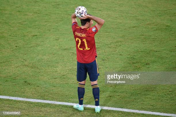 Mikel Oyarzabal of Spain during the match between Spain and Sweden of Euro 2020, group E, matchday 1, played at La Cartuja Stadium on June 14, 2021...