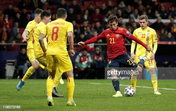 Mikel Oyarzabal of Spain in action during the UEFA Euro 2020 Group F qualifying match between Spain and Romania at Wanda Metropolitano Stadium in...