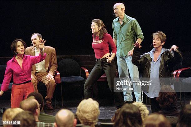 Mikel Rouse's ''Dennis Cleveland'' a multimedia talk show opera at the John Jay College Theater on April 30 2002This imageFrom left Napua Davoy Joe...