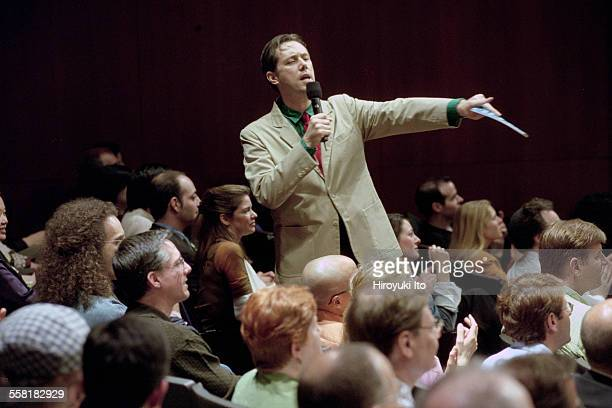 Mikel Rouse's ''Dennis Cleveland'' a multimedia talk show opera at the John Jay College Theater on April 30 2002This imageMikel Rouse
