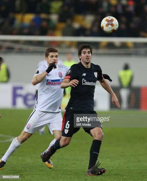 Mikel San José of Athletic Bilbao UEFA Europa League Group J match between Zorya Luhansk and Athletic Bilbao at Arena Lviv in Lviv Ukraine December...