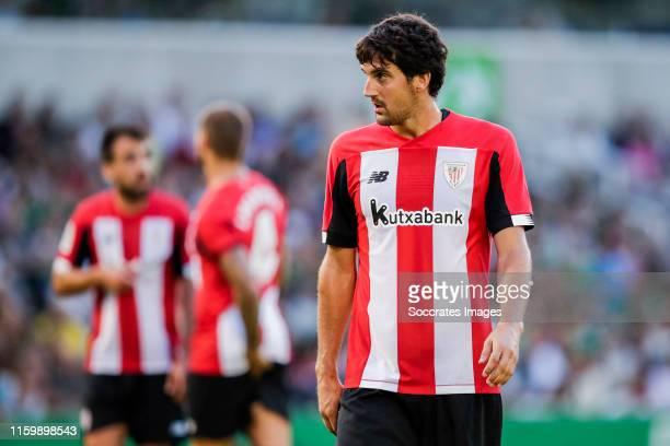 Mikel San Jose of Athletic Bilbao during the Club Friendly match between Racing Santander v Athletic de Bilbao at the Estadio El Sardinero on August...