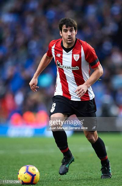Mikel San Jose of Athletic Club Bilbao in action during the La Liga match between Real Sociedad and Athletic Club at Estadio Anoeta on February 02,...