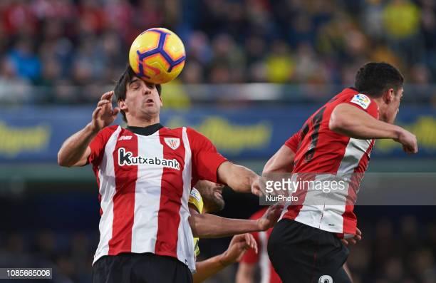 Mikel San Jose of Athletic Club de Bilbao during the La Liga Santander match between Villarreal and Athletic Club de Bilbao at La Ceramica Stadium on...