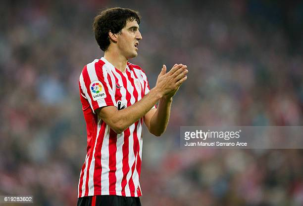 Mikel San Jose of Athletic Club reacts during the La Liga match between Athletic Club Bilbao and CA Osasuna at San Mames Stadium on October 30 2016...