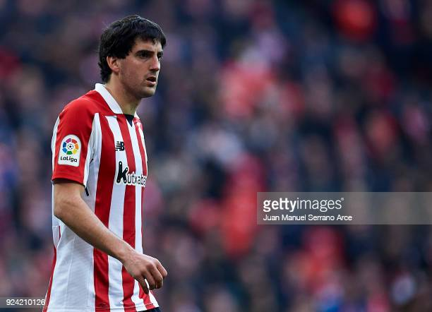 Mikel San Jose of Athletic Club reacts during the La Liga match between Athletic Club Bilbao and Malaga CF at San Mames Stadium on February 25 2018...