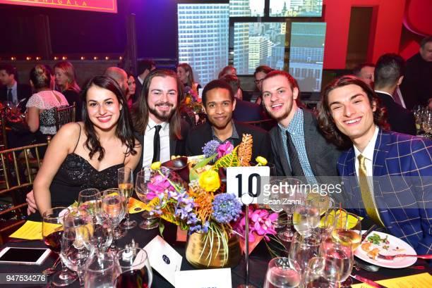 Mikela Masotti John Morgenson Kiori DePuch David Ossman and DJ Deorio attend NYU Tisch School of the Arts GALA 2018 at Capitale on April 16 2018 in...