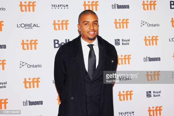 Mikey Alfred attends the Mid90s premiere during 2018 Toronto International Film Festival at Ryerson Theatre on September 9 2018 in Toronto Canada