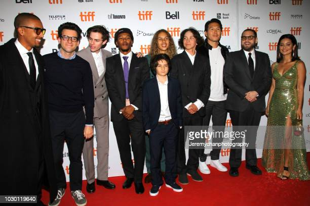 Mikey Alfred Eli Bush Ryder McLaughlin Nakel Smith Sunny Suljic Olan Prenatt Gio Galicia Ken Kao Jonah Hill and Alexa Demie attend the Mid90s...