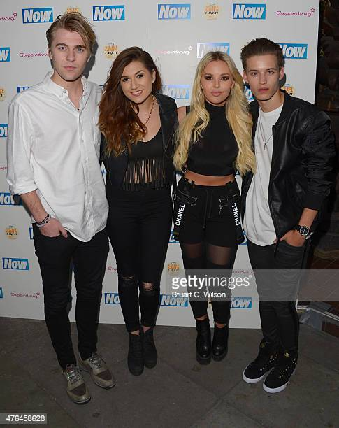 Mikey Bromley Betsy Blue English Parisa Tarhomani and Charlie George of 'Only The Young' attend the Now Smart Girls Fake It Campaign launch at...