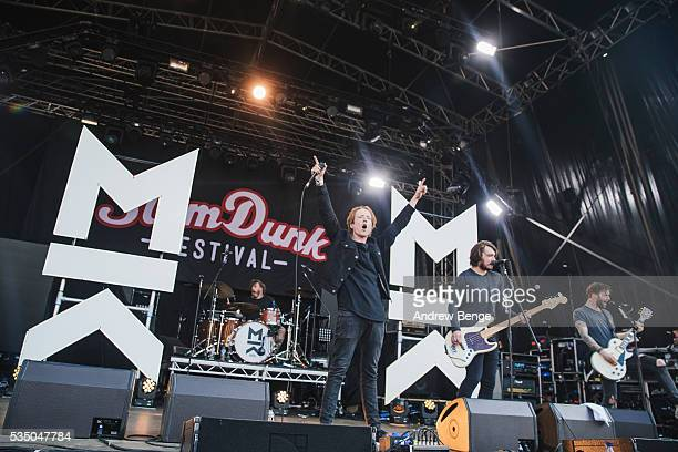 Mikey Chapman and Sam Douglas of Mallory Knox perform on stage during Slam Dunk Festival at Millennium Square on May 28 2016 in Leeds England