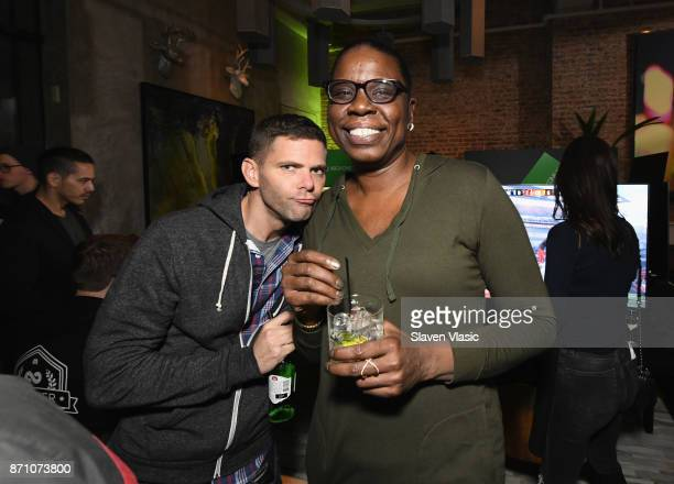 Mikey Day and Leslie Jones attend as Liam Payne Chloe Grace Moretz Brooklyn Beckham and Caleb McLaughlin Host Xbox One x VIP Event Xbox Live Session...