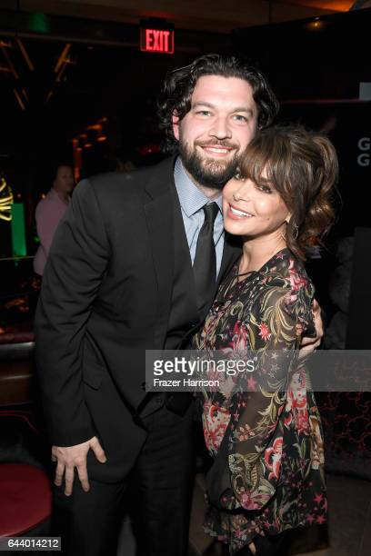Mikey Demers and singer Paula Abdul attend the 14th Annual Global Green Pre Oscar Party at TAO Hollywood on February 22 2017 in Los Angeles California