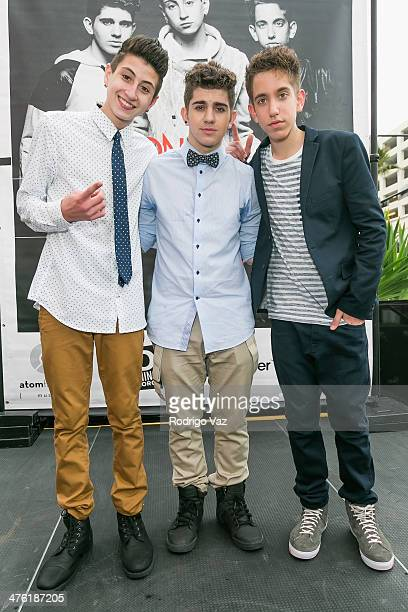 Mikey Fusco Madison Alamia and Jason Smith of To Be One attend at the Glendale Galleria on March 2 2014 in Glendale California