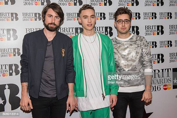 ONLY] Mikey Goldsworthy Olly Alexander and Emre Turkmen of Years Years attends the nominations launch for The Brit Awards 2016 at ITV Studios on...