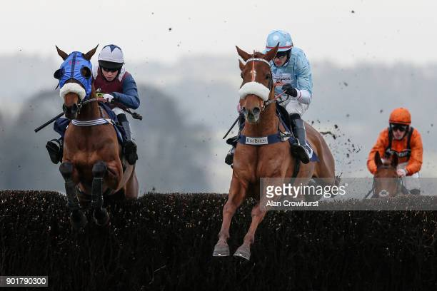 Mikey Hamill riding Another Venture on their way to winning The Coral Yourcall Steeple Chase at Chepstow racecourse on January 6 2018 in Chepstow...
