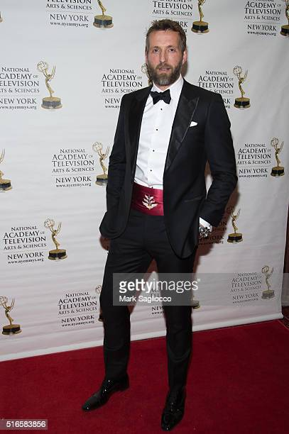 Mikey Kay attends the 59th Annual New York Emmy Awards at the Marquis Times Square on March 19 2016 in New York City