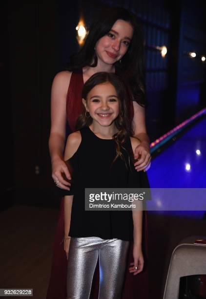 Mikey Madison and Olivia Edward attend the 2018 FX Annual AllStar Party at Lucky Strike Manhattan on March 15 2018 in New York City
