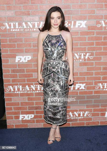 Mikey Madison arrives at FX's 'Atlanta Robbin' Season' Los Angeles premiere held at Ace Theater Downtown LA on February 19 2018 in Los Angeles...