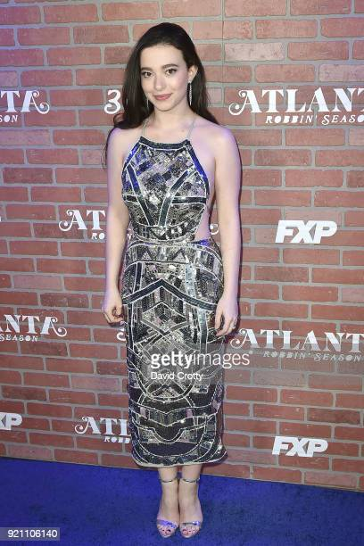 Mikey Madison attends FX's 'Atlanta Robbin' Season' Premiere Arrivals at Ace Theater Downtown LA on February 19 2018 in Los Angeles California