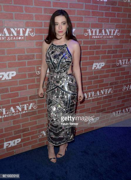 Mikey Madison attends the premiere for FX's 'Atlanta Robbin' Season' at The Theatre at Ace Hotel on February 19 2018 in Los Angeles California