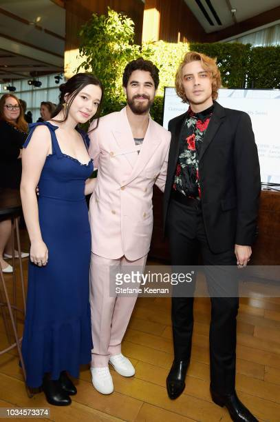 Mikey Madison Darren Criss and Cody Fern attend FX Networks celebration of their Emmy nominees in partnership with Vanity Fair at Craft on September...