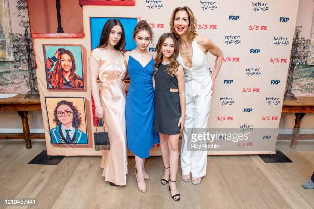 Mikey Madison Hannah Alligood Olivia Edward and Alysia Reiner attend FX's Better Things Season 4 Premiere at the Whitby Hotel on March 04 2020 in New...