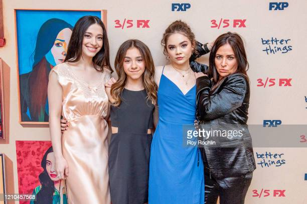 Mikey Madison Hannah Alligood Olivia Edward and Pamela Adlon attend FX's Better Things Season 4 Premiere at the Whitby Hotel on March 04 2020 in New...