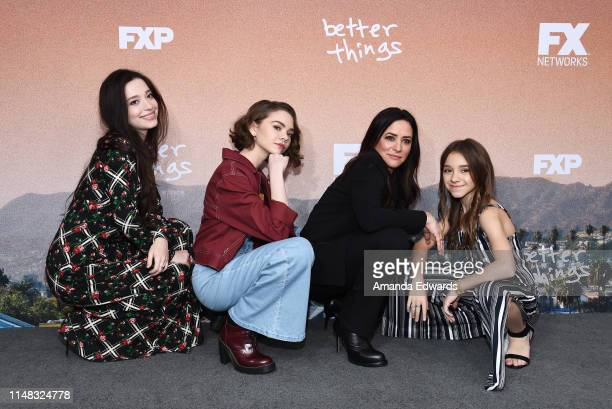Mikey Madison Hannah Alligood Pamela Adlon and Olivia Edward arrive at the FYC Red Carpet Event For Season 3 Of FX's Better Things at the Saban Media...