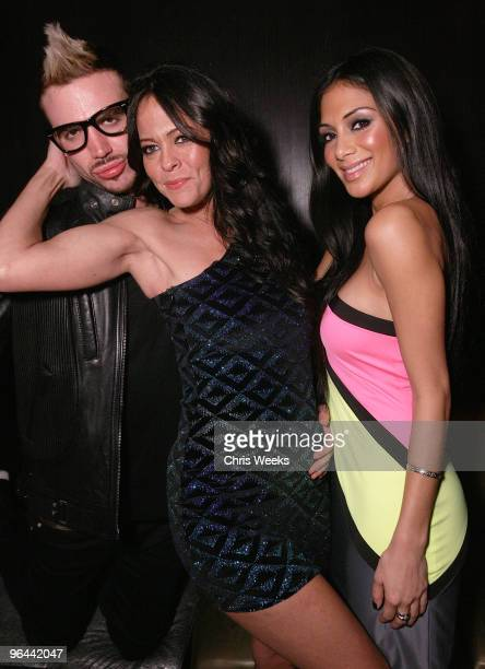 Mikey Minden Allison Melnick and singer Nicole Scherzinger attend SVEDKA Vodka's 'Adult Playground 2033' at Playhouse Hollywood on February 4 2010 in...