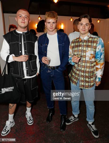 Mikey Pierce Thomas Petherick and Danny Hyland attend the Fashion East and Bistrotheque private dinner celebrating the close of London Fashion Week...