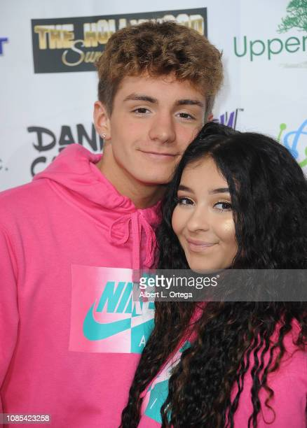 Mikey Tua and Dani Cohn attend Danielle Cohn's Music Video Release Party For Lights Camera Action held at Starwest Studios on January 19 2019 in...