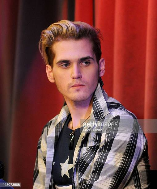 Mikey Way of My Chemical Romance during American Express Presents My Chemical Romance at The GRAMMY Museum on January 26 2011 in Los Angeles...