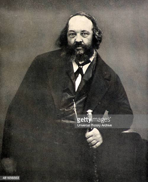 """Mikhail Alexandrovich Bakunin was a Russian revolutionary, libertarian socialist and founder of """"collectivist anarchism"""" philosophy.."""