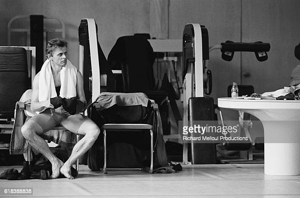 Mikhail Barychnikov watches the dance troupe he cofounded the White Oak Dance Project work out in Paris