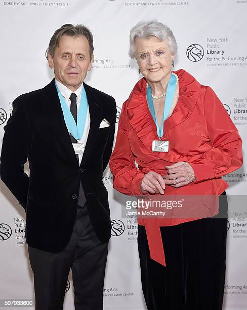 Mikhail Baryshnikov and Angela Lansbury attend The New York Public Library For The Performing Arts' 50th Anniversary Gala at The New York Public...