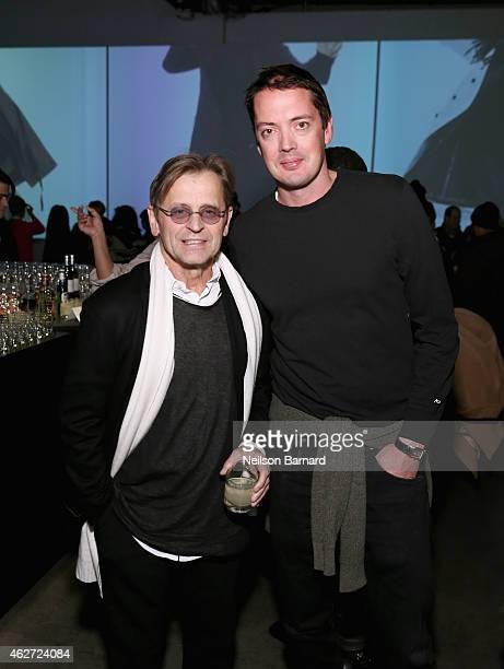 Mikhail Baryshnikov and designer Marcus Wainwright attend Rag Bone Fall/Winter 2015 Menswear Presentation at Dia Center on February 3 2015 in New...