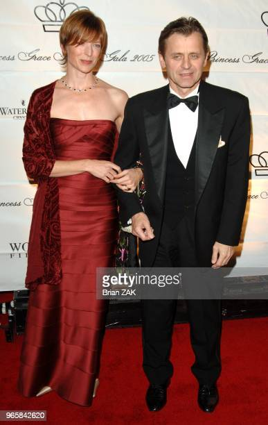 Mikhail Baryshnikov and Lisa Rinehart arrive at the 2005 Princess Grace Awards held at Cipriani's New York City BRIAN ZAK