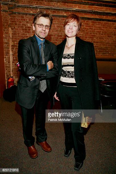Mikhail Baryshnikov and Lisa Rinehart attend MACBETH The Benefit at Brooklyn Academy of Music on February 12 2008 in New York City