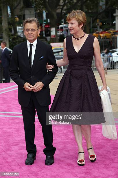 Mikhail Baryshnikov and Lisa Rinehart attend New York City Ballet 2016 Fall Fashion Gala at David H Koch Theater Lincoln Center on September 20 2016...