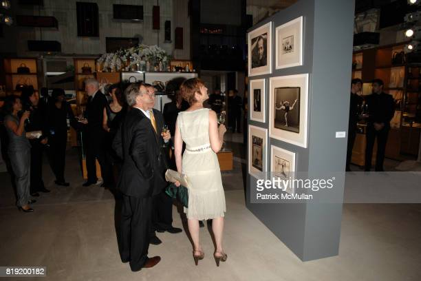 Mikhail Baryshnikov and Lisa Rinehart attend Salon de Louis Vuitton honoring Mikhail Baryshnikov at Louis Vuitton Maison on July 6 2010 in New York...
