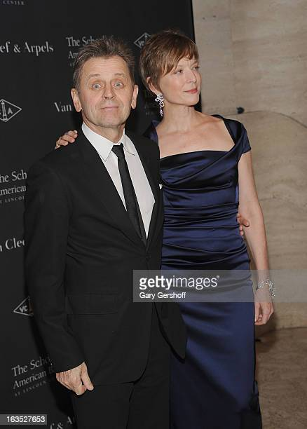 Mikhail Baryshnikov and Lisa Rinehart attend the 2013 School Of American Ballet Winter Ball A Night In The Far East at David H Koch Theater Lincoln...