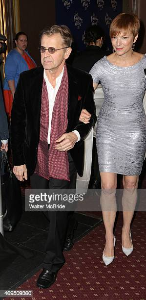 Mikhail Baryshnikov and Lisa Rinehart attend the Broadway Opening Night Performance of 'An American in Paris' at The Palace Theatre on April 12 2015...