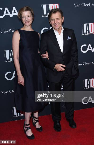 Mikhail Baryshnikov and Lisa Rinehart attend the LADP annual gala and unveiling of new company space at the LADP new home in Los Angeles on October 7...