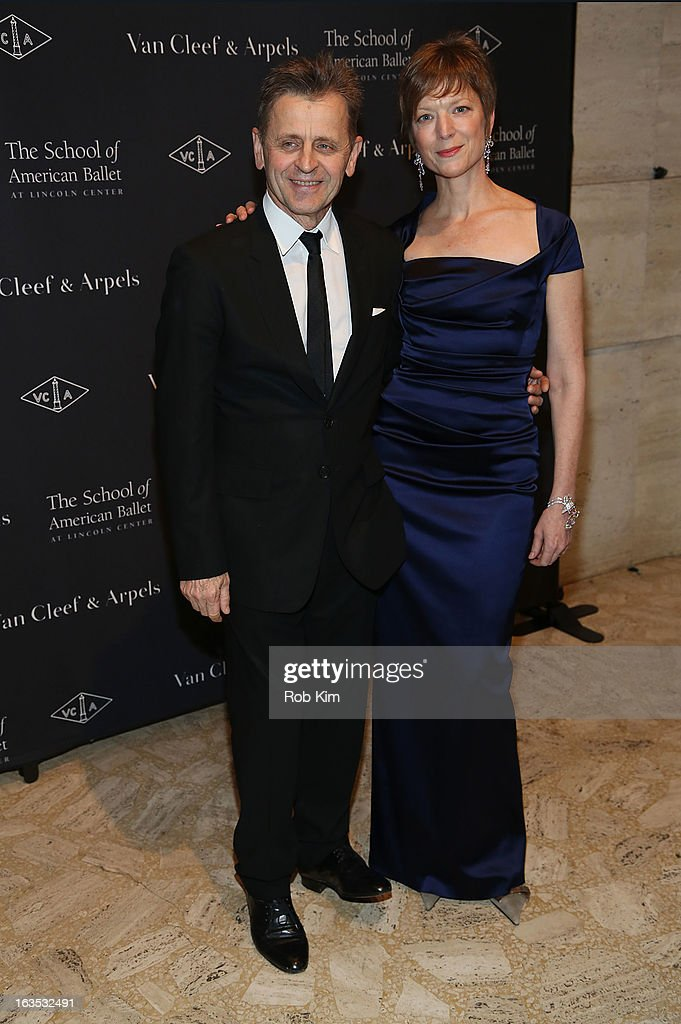 Mikhail Baryshnikov and Lisa Rinehart attend the School of American Ballet 2013 Winter Ball at David H. Koch Theater, Lincoln Center on March 11, 2013 in New York City.